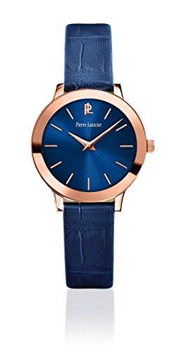 Pierre Lannier - 023K966 - Week-End Ligne Pure - Montre Femme - Quartz Analogique - Cadran Bleu - Bracelet Acier plaqué Bleu