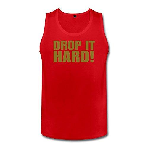 Lzf Men'S Drop It Hard Cotton Tank Top T-Shirt Tee Xxl Red