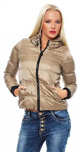 Piumino da donna Bosideng Stepp portatiòli giacca invernale argento visone siber mink Medium