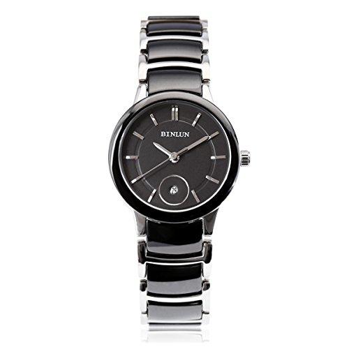 binlun-ladys-black-tone-causal-japanese-quarts-analog-tungsten-steel-watch-luminous-hands-band-15mm