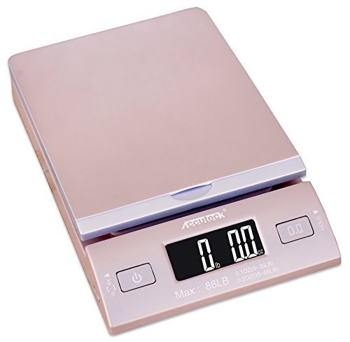 Accuteck DreamGold 86 Lbs Digital Postal Scale Shipping Scale Postage With USB&AC Adapter, Limited Edition (Accuteck Digital Postal Scale compare prices)