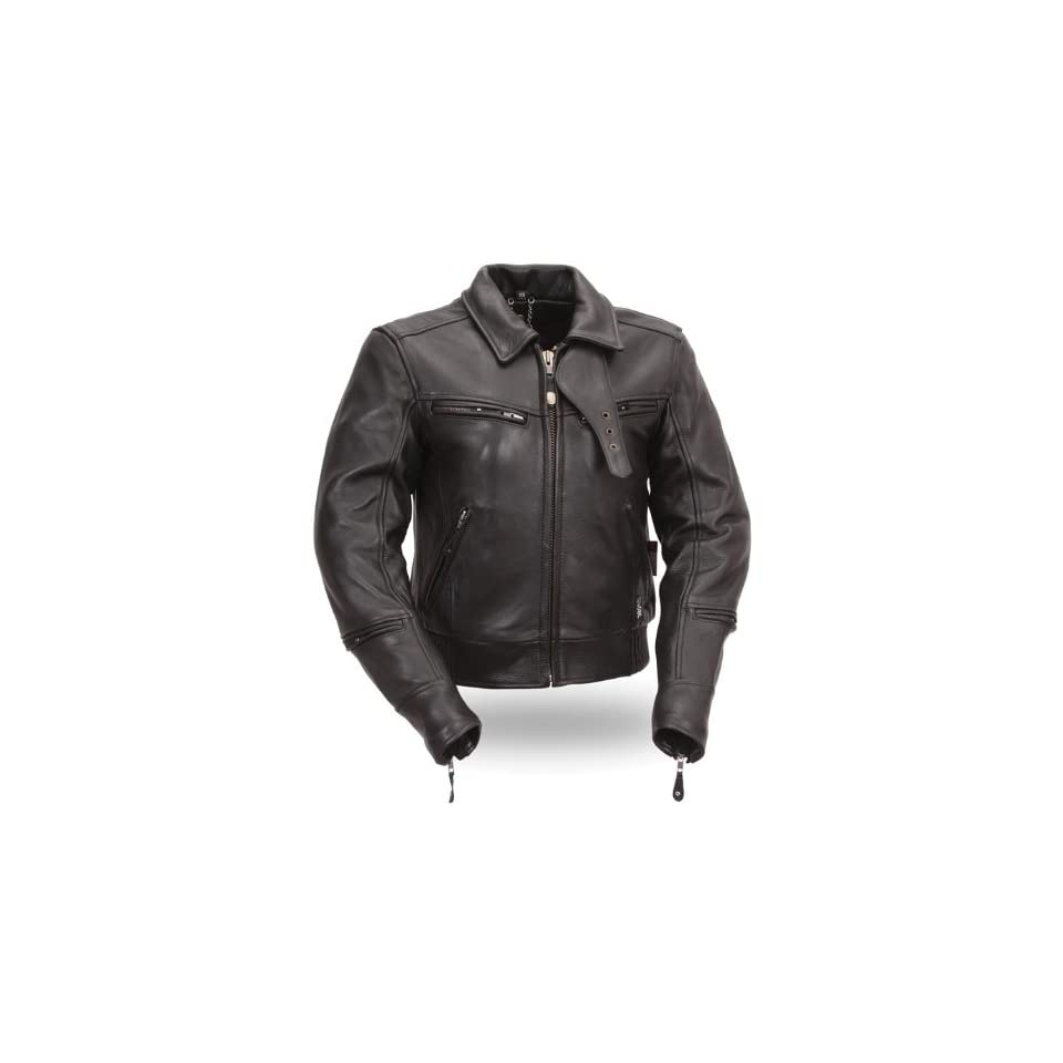 First MFG Xpert Performance Womens Bronson Hybrid Leather Jacket. Pockets, Vented, Armored. XPL168NKDZ