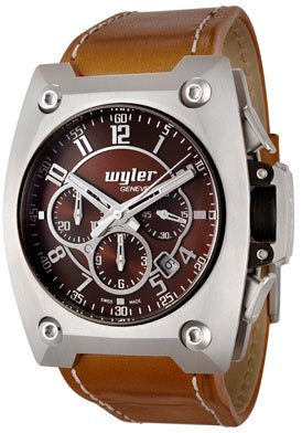 Men's Code R Automatic Chronograph Brow Dial Brown Leather