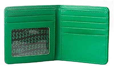 "Minecraft Creeper Face Leather Wallet (4"" x 3.5"", Green)"