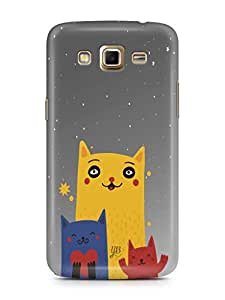 YuBingo Family of Cats Mobile Case Back Cover for Samsung Galaxy Grand 2