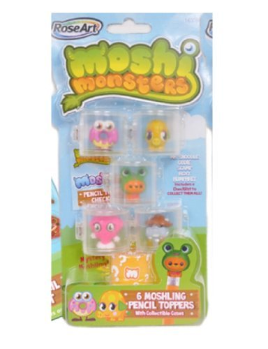 Moshi Monsters Moshlings Pencil Toppers Mr. Snoodle, Oddie, Scamp, Roxy & Humphrey - 1