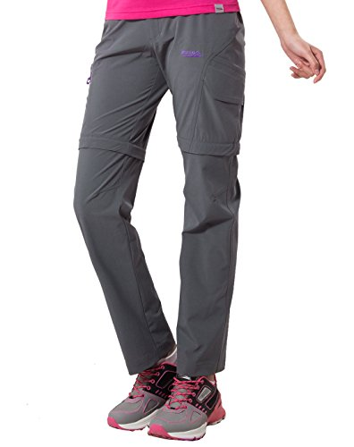 Makino Women's Convertible Hiking Pants M131612002 US Small Grey (Women Convertible Pants compare prices)