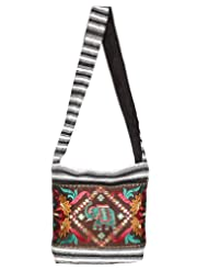 Rajrang Bags For College Girls Sun Canvas Patch Work Brown Sling Bag
