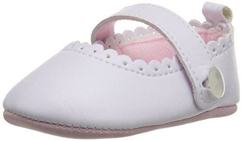 Little Me MaryJane White PU Leather Mary Jane (Infant), White, 9-12 Months M US Infant