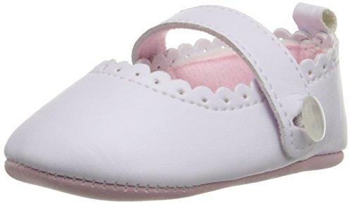 Little Me MaryJane White PU Leather Mary Jane (Infant), White, 6-9 Months M US Infant
