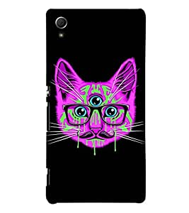 ANIMATED CHARACTER WITH ZIPPED LIPS 3D Hard Polycarbonate Designer Back Case Cover for Sony Xperia Z3+ :: Sony Xperia Z3 Plus