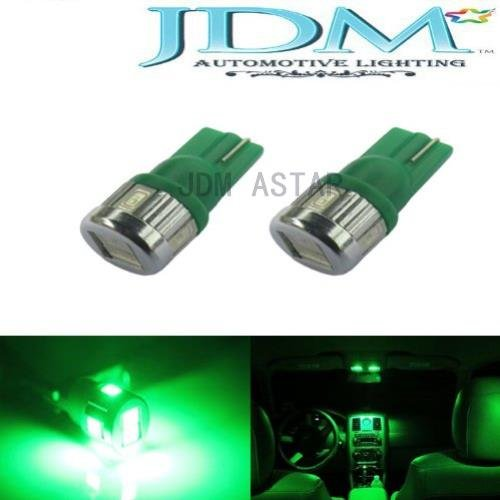 Jdm Astar Extremely Bright 5730 Smd 194 168 2825 W5W T10 Led Bulbs,Emerald Green(Brightest T10 Bulb In The Market)