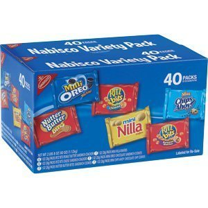 Nabisco Mini Snack Variety Pack - 40 Packs-40oz