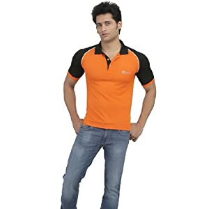 Cricket Polo T-Shirt - Orange