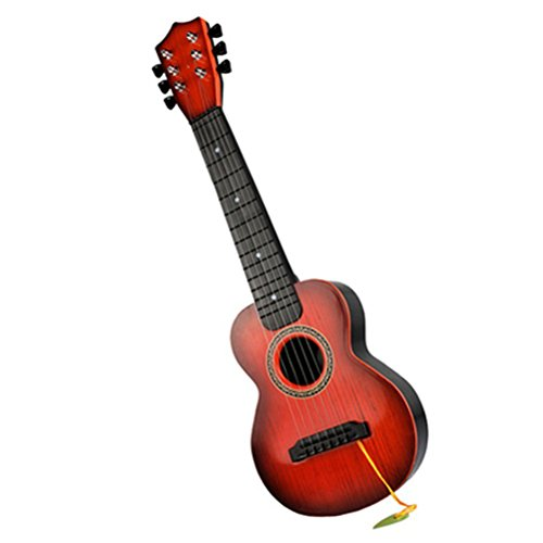 Tinksky-Guitar-For-Toddlers-6-Strings-Children-Educational-Mini-Guitar-Brown