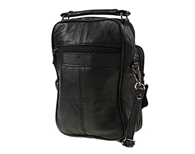 Lorenz Black Real Leather Shoulder Bag
