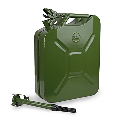 XtremepowerUS 5 Gallon Jerry Can Gas Fuel Steel Tank Green Military 20L Storage (Military Jerry Can compare prices)