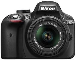 Nikon D3300 24.2 MP Digital SLR Camera (Black) with AF-P 18-55mm VR Lens Kit with 8 GB Card and Camera Bag