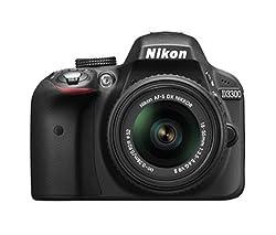 Nikon D3300 24.2 MP Digital SLR Camera (Black) with AF-P 18-55mm VR Lens Kit with 16 GB Card and Camera Bag