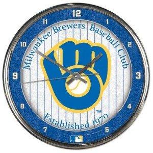 MLB Round Chrome Wall Clock