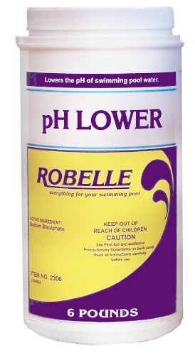 Robelle Ph Lower Decreaser Controler 2306 Chemical For Swimming Pool 2 X 6 Lb Containers