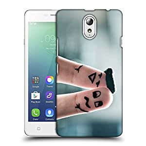 Snoogg Two Fingers Designer Protective Back Case Cover For LENOVO VIBE P1