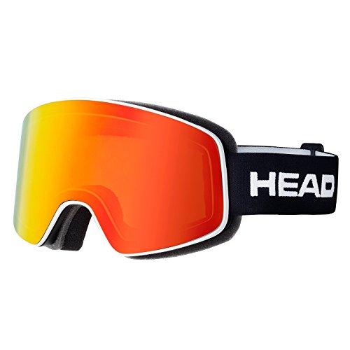 Head Horizon Fire-Occhiali da sci a maschera, colore: nero/bianco