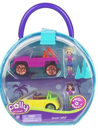 Buy Low Price Mattel Polly Pocket Polly Wheels Drivin' Wild Dolls & Vehicles 2-Pack Set Figure (B00132RZAM)