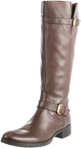 Geox Women's D Mendi Stivali S Brown Knee High Boots D1390S46C6000 4 UK, 37 EU