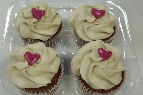 Image of Rebecca's Little Cakes Gluten Free Vegan Red Velvet Cupcakes-4 Pack Organic All Natural 9oz
