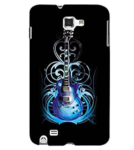 Printvisa Blue Electrified Guitar Back Case Cover for Samsung Galaxy Note i9220::Samsung Galaxy Note 1 N7000