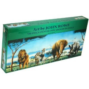 "Art by John Rowe 700-Piece 34"" x 12"" Panoramic Jigsaw Puzzle - Savannah"
