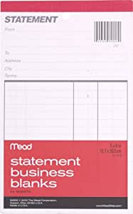 Mead Statement Business Blanks, 1 Notebook, 54 Sheets (64900)