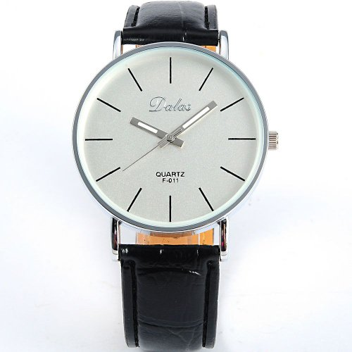 AMPM24 Black Leather Women Lady Girl White Dial Sport Quartz Wrist Watch Gift