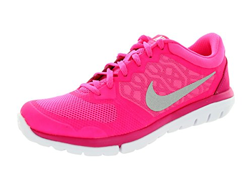 Nike Women's Flex 2015 Running Shoes (8, Pink Pow/Hot Pink/Metallic Silver)