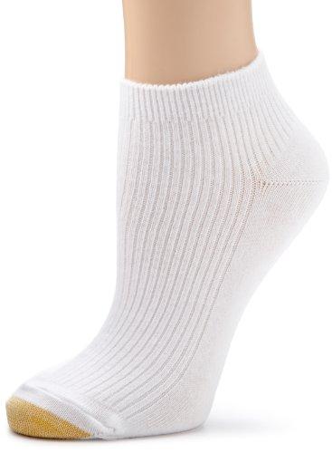 Gold Toe Women's Rib Lowe 6 Pack Socks, White, 9-11