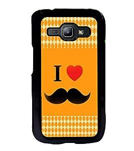 ifasho I love Moustache Back Case Cover for Samsung J1