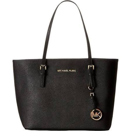 Michael Kors Women'S Jet Set Saffiano Small Travel Tote Black