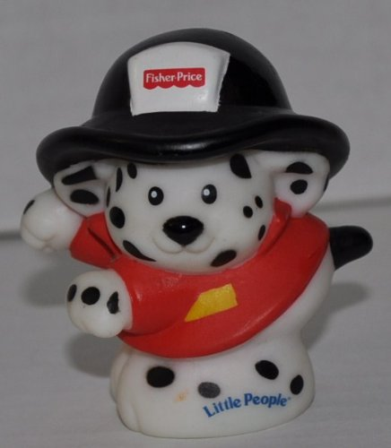 Little People Dalmatian Fire Dog (2002) - Replacement Figure Accessory - Classic Fisher Price Collectible Figures - Loose Out Of Package & Print (OOP) - Zoo Circus Ark Pet Castle