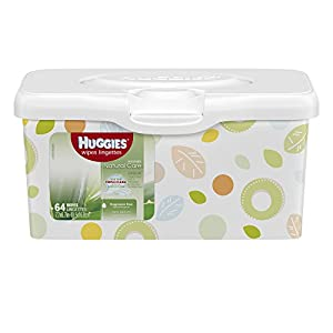 Huggies Natural Care Pop-Up Baby Wipes Tub, 64 Count (Packaging May Vary)