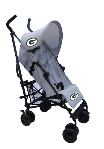 Green Bay Packers Gray Umbrella Stroller front-335538