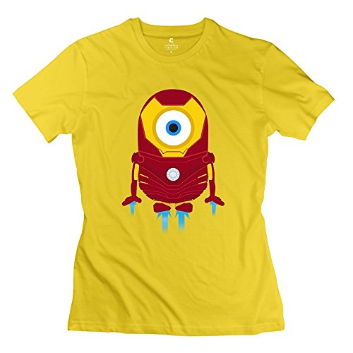 ZHUYOUDAO Women's the Avengers Tony Stark Iron Man Despicable Me Minions T-Shirt