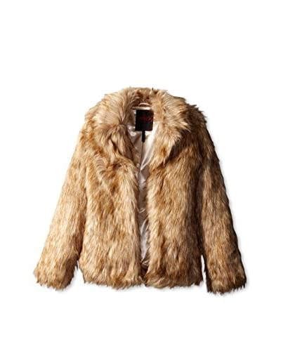 Yoki Women's Faux Fur Jacket  [Light Brown]