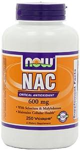 Now Foods, NAC N-Acetyl Cysteine 600mg 250 Capsules