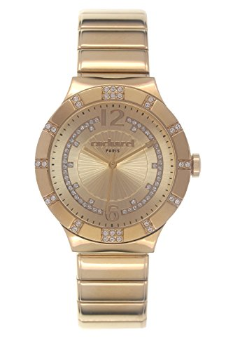 Cacharel-CLD 039S 1EM/Women's Watch Analogue Quartz Golden Dial Gold Plated Steel Bracelet