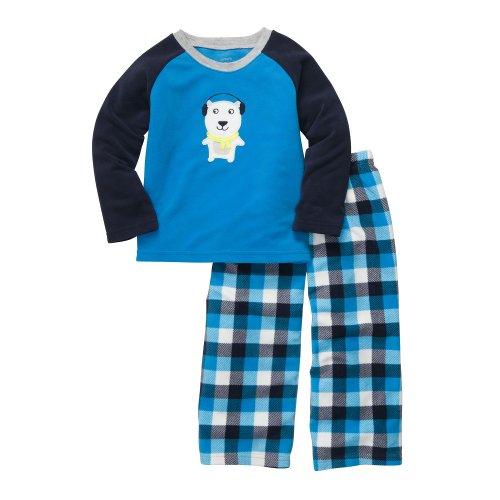 Carter'S Baby Boys' 2-Pc L/S Plaid Set - Polar Bear - 12 Months front-170349