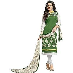 pakiza design new green chanderi cotton festival partywear salwar suit dress material