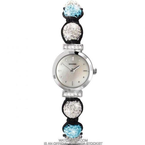 Sekonda Crystalla Turquoise & White Crystal Beads Ladies Watch 4733