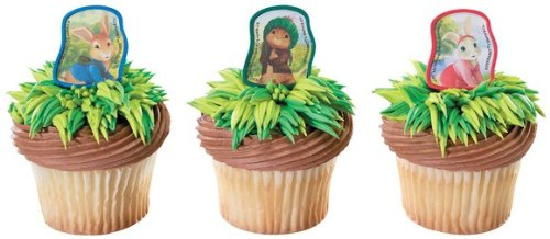 Peter Rabbit Cupcake Rings Party Favors - 24 pcs