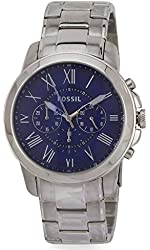Fossil Men's FS4844 Grant Stainless Steel Watch with Link Bracelet